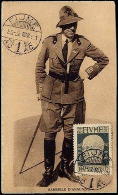 Poscard D'Annunzio Fiume, 1921