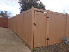 Natural Cedar Vinyl Fence Dallas Vinyl Landscaping