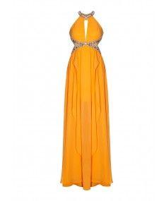 Forever Unique - Shayla Orange Maxi Dress