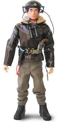 Vintage 1975 ACTION MAN Tank Commander Outfit with Common Black Plastic beret & Cap Badge.