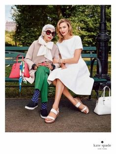 Mature Models: Iris Apfel for Kate Spade | That's Not My Age