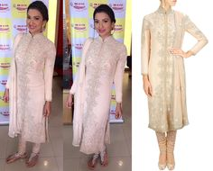 GET THIS LOOK: Gauhar Khan look pretty in an outfit by Malasa. Shop at: http://www.perniaspopupshop.com/designers/malasa #celebritystyle #shopnow #perniaspopupshop #malasa