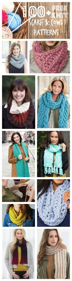 Knitting Patterns Cowl Never pay for a knit scarf or cowl pattern again! Find every type of knit scarf you can think of! Loom Knitting Patterns, Free Knitting, Knitting Projects, Crochet Patterns, Scarf Patterns, Crochet Scarves, Crochet Yarn, Knitting Scarves, Knit Cowl