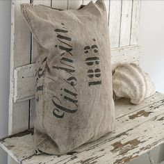 Grain Sack, Family Life, Driftwood, Cottage, Throw Pillows, Toss Pillows, Cushions, Cottages, Decorative Pillows