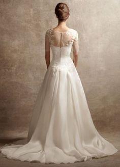 Vera Wang Satin Organza Wedding Dress VW351023 Size 10