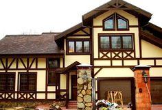 Отделка фасада частного дома: материалы, дизайн, фото