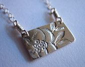 SALE Little Magnolia Sterling Silver Necklace - enter coupon code SUMMERSALE at checkout to receive 20% off
