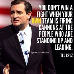 Ted Cruz--a man with the courage of his convictions!!