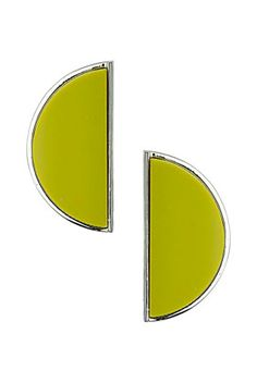 Perspex Semi Circle Earrings