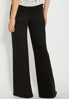 ultra soft palazzo pant in black - maurices.com