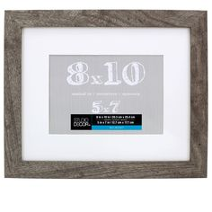 Durable frame has a contemporary design and looks great in almost any décor. With its white mat, this frame is perfect for displaying a cherished photograph or artwork.