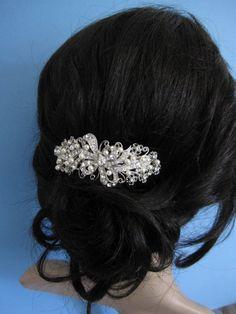 Vintage Inspired Rhinestones Swarovski Pearl by bridal101 on Etsy, $59.00
