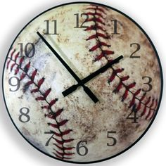 Baseball clock for a sporty boy's room