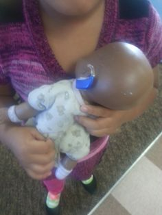 My students loved having a baby with a hearing aid!