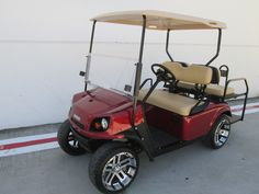19TH HOLE GOLF CARTS - RED EZGO CART