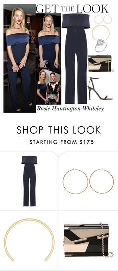 """Rosie Huntington-Whiteley The Hollywood Reporter and Jimmy Choo's Power Stylists Dinner March 15, 2016"" by valenlss ❤ liked on Polyvore featuring Neil Lane, Galvan, Jennifer Fisher and Jimmy Choo"
