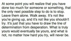 At some point you have to realize....