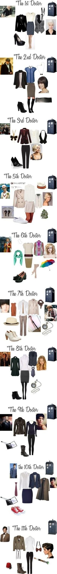 """The 11 Doctors from ""Doctor Who""."" by nchavez113 on Polyvore (this is actually missing 4!) by AFiskie"