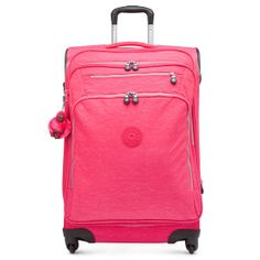 Lighten your load from security to baggage claim with this spacious wheeled suitcase, set to pack all your necessities plus some extras thanks to the expandable zipper.