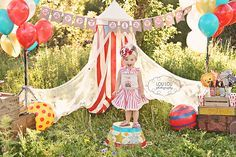 Sophie is 2 Vintage Circus Salt Lake City Child Photographer Vintage Circus Party, Circus Carnival Party, Circus Theme Party, Carnival Birthday Parties, Circus Birthday, Vintage Carnival, First Birthday Parties, Circus Wedding, Lila Party