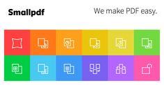 Smallpdf - la plataforma que te ayuda a convertir y editar tus archivos de PDF. Soluciona todos tus problemas con los PDF - y si, es 100% gratuita.
