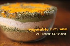 Vegetable Broth Mix Recipe   All-Purpose Seasoning