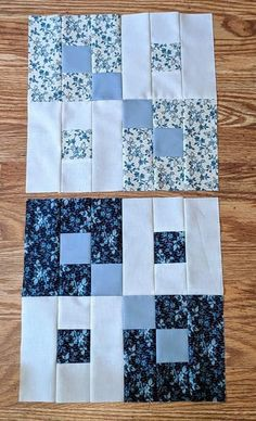 Quilt Square Patterns, Jelly Roll Quilt Patterns, Patchwork Quilt Patterns, Beginner Quilt Patterns, Quilting For Beginners, Quilt Block Patterns, Pattern Blocks, Square Quilt, Colchas Quilting