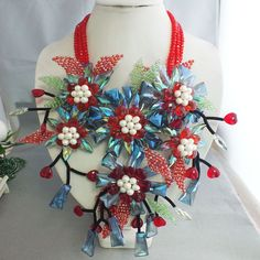 Cheap Rosso catene di cristallo & del pendente del fiore super lusso neckalce!, Compro Qualità Collane Chain direttamente da fornitori della Cina:
