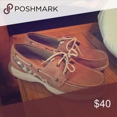 Leopard print sperrys brand new! Leopard print only worn once size 8 Sperry Shoes Flats & Loafers