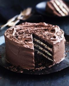 Neil Perry's chocolate and ricotta cake