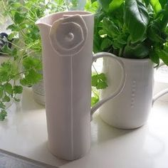 Porcelain jug by Caroline Green