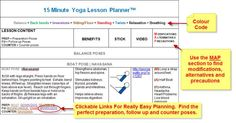 Yoga Lesson Plan Kit