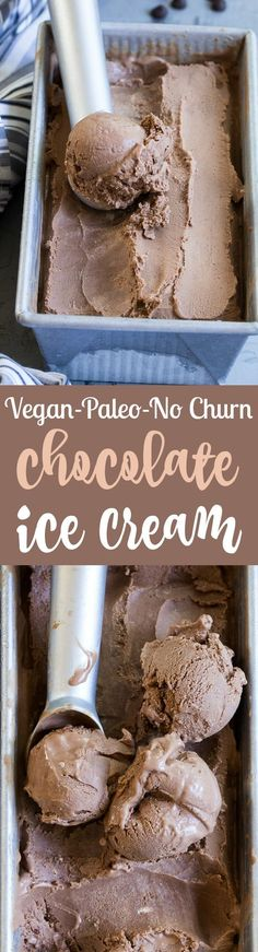 No-Churn Chocolate Coconut Milk Ice Cream {Paleo & Vegan}