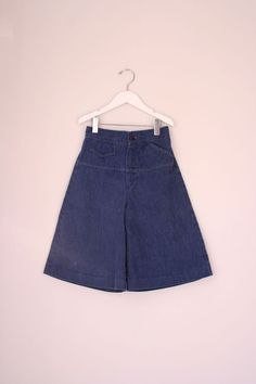 vintage girls gauchos denim size 5/6 by fuzzymama on Etsy, $10.00