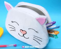 Cat Toilet Training, Diy Pencil Case, Kids Purse, Doodle Cartoon, Diy School Supplies, Sewing Projects For Kids, Pencil Bags, Sewing Dolls, Baby Store
