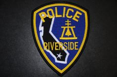 Riverside Police Patch, Riverside County, California