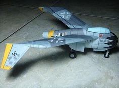 WW2`s Blohm Und Voss P.212. - German Prototype Aircraft - by Eric Son -         A cool paper model in 1/48 scale, that features a rare WW2`s prototype: the Blohm und Voss P.212 - German Prototype Aircraft, made by Indonesian designer Eric Son, from Cut, Fold And Paste website. A great one! Thanks, Eric! - Visit Papaermau to know more and find link to download!