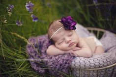 outdoor newborn photography headband by Sew Whimsey on etsy