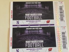 BUY 2 TIX TO WISCONSIN NORTHWESTERN GM & RECEIVE 2 FREE TIX TO ILLINOIS NORTHWESTERN GAME ON NOV 29! Northwestern Wisconsin Football Tickets, Saturday October 4th, College Football