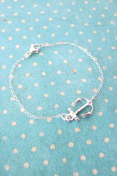 Lucky Silver Anchor bracelet simple sterling