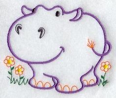 Vintage Hippo: found at Embroidery Library