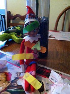 Elf ideas...got into the bandaids