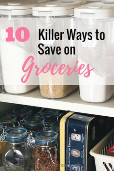 10 Killer Ways to Save Money on GroceriesThese are 10 Great tips to help you save money on groceries. Check out all these ideas and learn to be frugal with your grocery budget. Source by plin. Money Saving Meals, Save Money On Groceries, Ways To Save Money, How To Make Money, Money Savers, Money Tips, Groceries Budget, Money Hacks, Quick Money