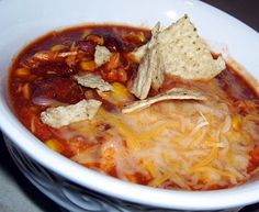 Chicken Tortilla Stew in the Crock Pot