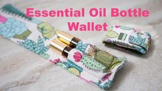 Perfect for travel or to carry in your purse or pocket, this pattern is designed to hold essential oil roller bottles or lip balm. It can hold two roller bottles (10ml). Get the free sewing pattern and tutorial for essential oil bottle wallet.