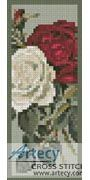 Red and White Roses Bookmark Counted Cross Stitch Pattern http://www.artecyshop.com/index.php?main_page=product_info&cPath=26&products_id=1275