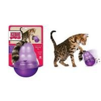 Kong Cat Wobblers provides beneficial mental and physcal stimulation for the household cat. With its entertaining wobble action, the Kong Cat wobbler makes playtime fun and rewarding by dispensing small treats. Used as a mealtime feeder, ot also slows rapid eating and helps fight boredom and obesity by encouraging cats to work for their food. Made in the USA from FDA approved food-greade materials, the KONG Cat Wobbler is a durable, easy-to-use food and treat dispenser. Si...