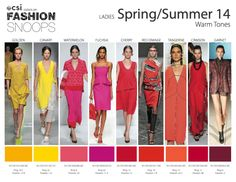 Womenswear for the Spring/Summer 2014 season from Fashion Snoops.