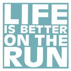 Women's Everyday Runners Tee Life Is Better On The Run | Running ...