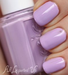 I love pastel nail polish colors! This Bond with Whomever nail polish by Essie is in a in pretty light lilac color.